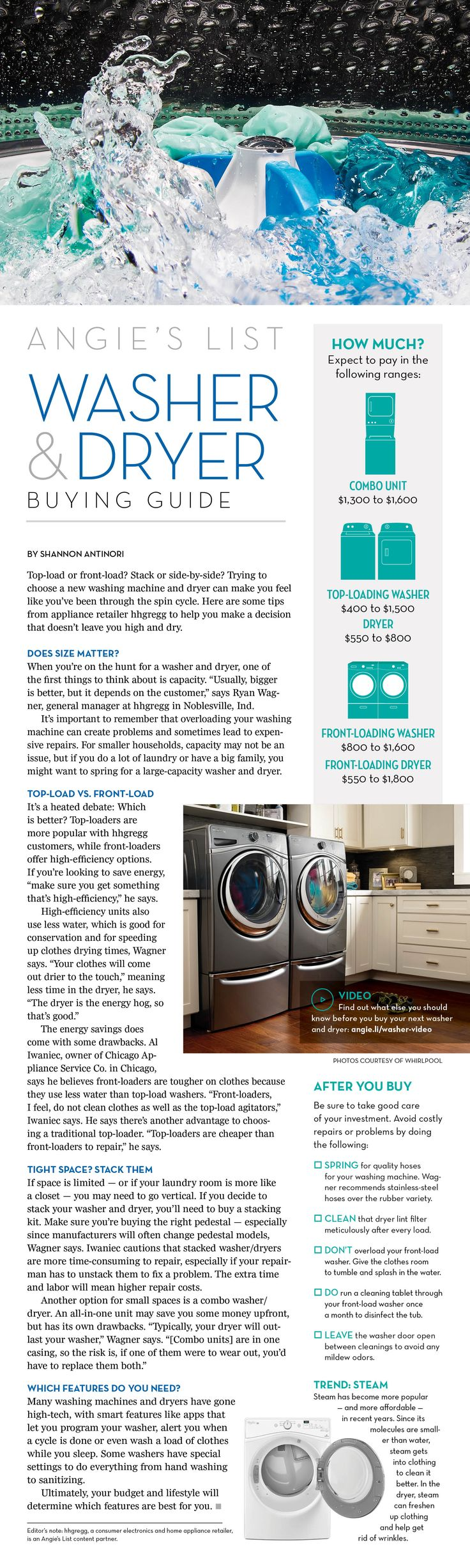 Buying a washer or dryer? Read this first!