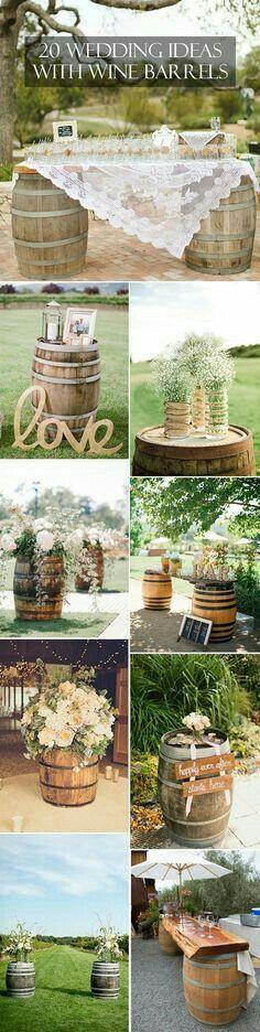 20 Wedding Ideas with Wine Barrels
