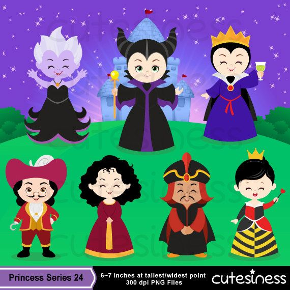 Villain Digital Clipart, Maleficent Clipart, Evil queen clipart