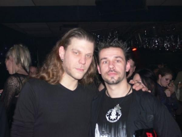 together wit one of  my gothic 'gods', mr Adrian Hates, Diary Of Dreams