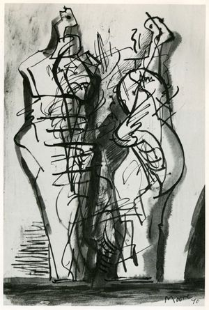 Two Standing Figures No XV, 1970 Henry Moore