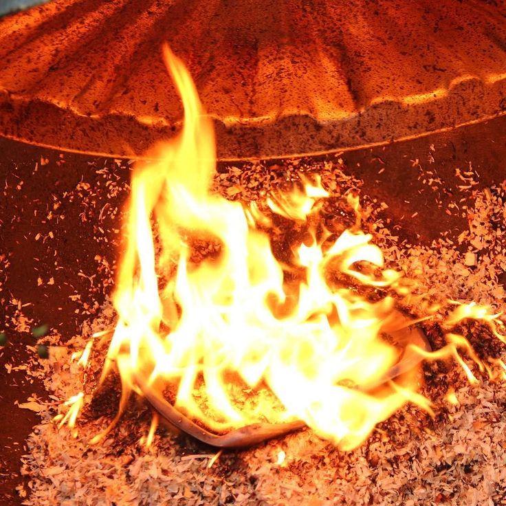 New mask on fire! #fairtrade #ethical #craftsmanship #raku #CREmerging #firing #keramik #keramiker #contemporaryceramics #handbuilt #ceramique #insta_pottery #poterie #ceramicreview #ceramicart #pottery#interior #craft #interiordesign#stoneware #clay #masterpotter#ceramic #art #tecnique #klin #artinclay #unique #lamp #light