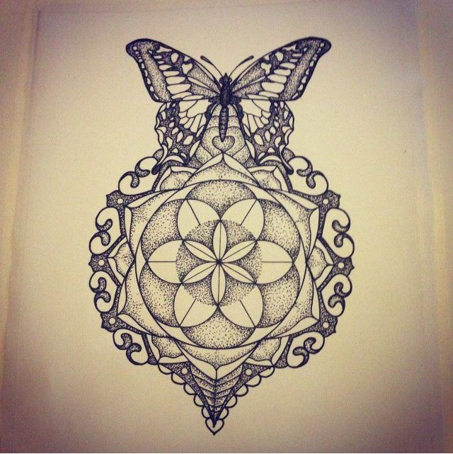 mandala butterfly tattoo - Поиск в Google
