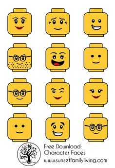 Rare image inside printable lego faces