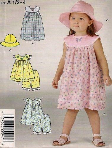 Toddler Girls Dress pattern, Simplicity 4661 | AlwaysJustBeth - Craft Supplies on ArtFire