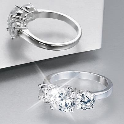 It might be wedding season, but why wait for him to pop the question. Our 3 Stone CZ Anniversary ring's diamond-like dazzle will keep everyone guessing. At just 14.99 (regular price 24.99) in Avon's Campaign 18 Brochure, go ahead and spoil yourself. It looks so real only you'll know it was a steal and not a splurge! Contact your Avon Independent Sales Representative today or visit http://www.ca.avon.com/PRSuite/locator.page to find one near you!