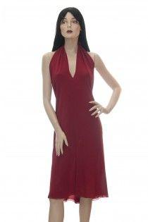 LORO PIANA červené hadvábné šaty Pc 46t. 36 38
