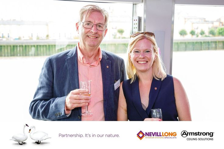 """""""Dave Bonner and Lydia Sharples from Nevill Long @encon_group at our anniversary celebration"""""""