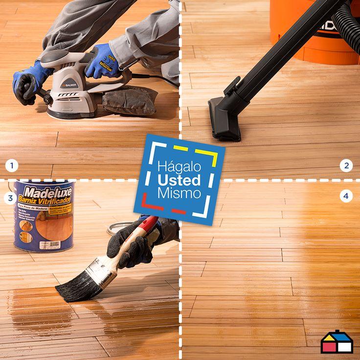 ¿Cómo dar brillo y protección a un piso de madera? #Pintura