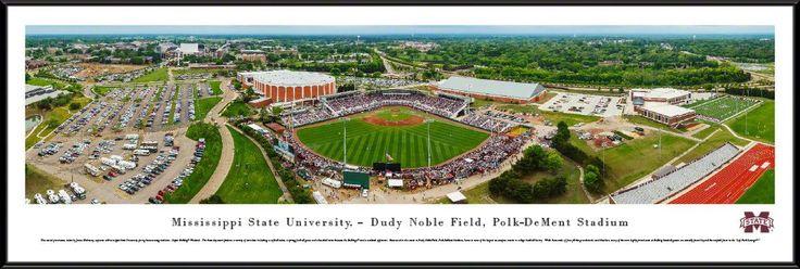 Mississippi State Bulldogs Baseball Panoramic - Dement Stadium