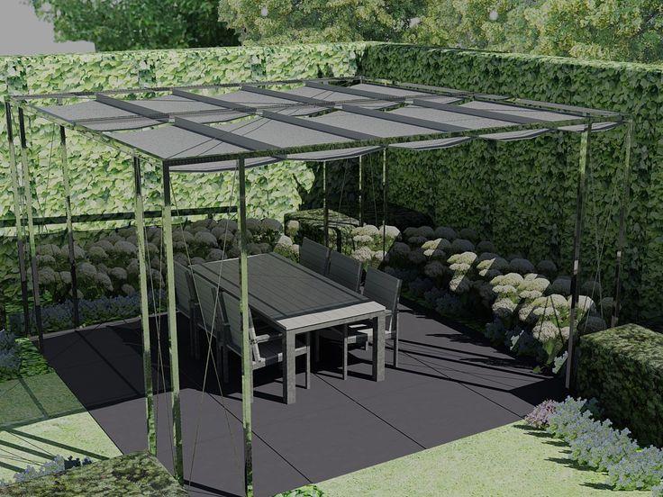 100 best images about schaduwdoek on pinterest sun custom shades and sun - Tent tuin pergola ...