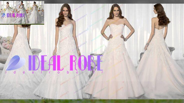 #Robe #De #Mariée En Dentelle Bustier --- http://www.idealrobe.fr/robe-de-mariée/grande-taille