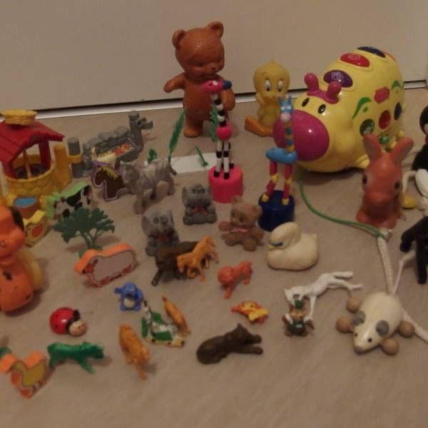 Zvířátka včetně krabice, 6 pěnových zvířátek do vany z bazaru