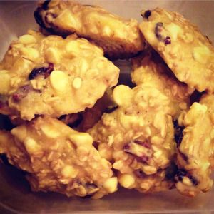 Amazing Oatmeal White Chocolate Chip Cranberry Cookies on our blog! So moist, chewy and tasty! Super easy and quick too! Check it out!