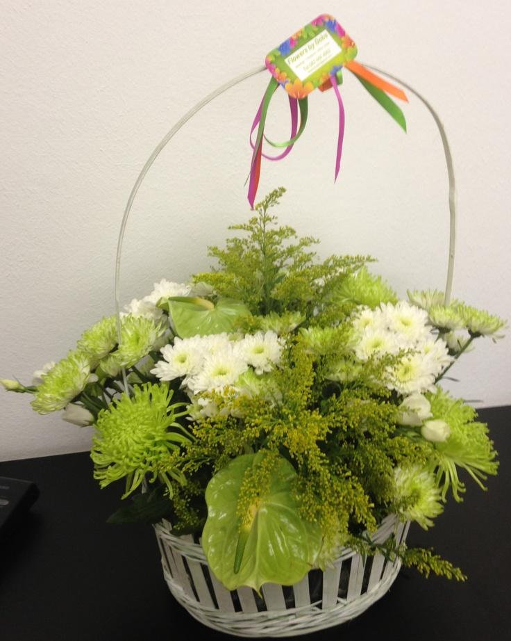 Basket green & White