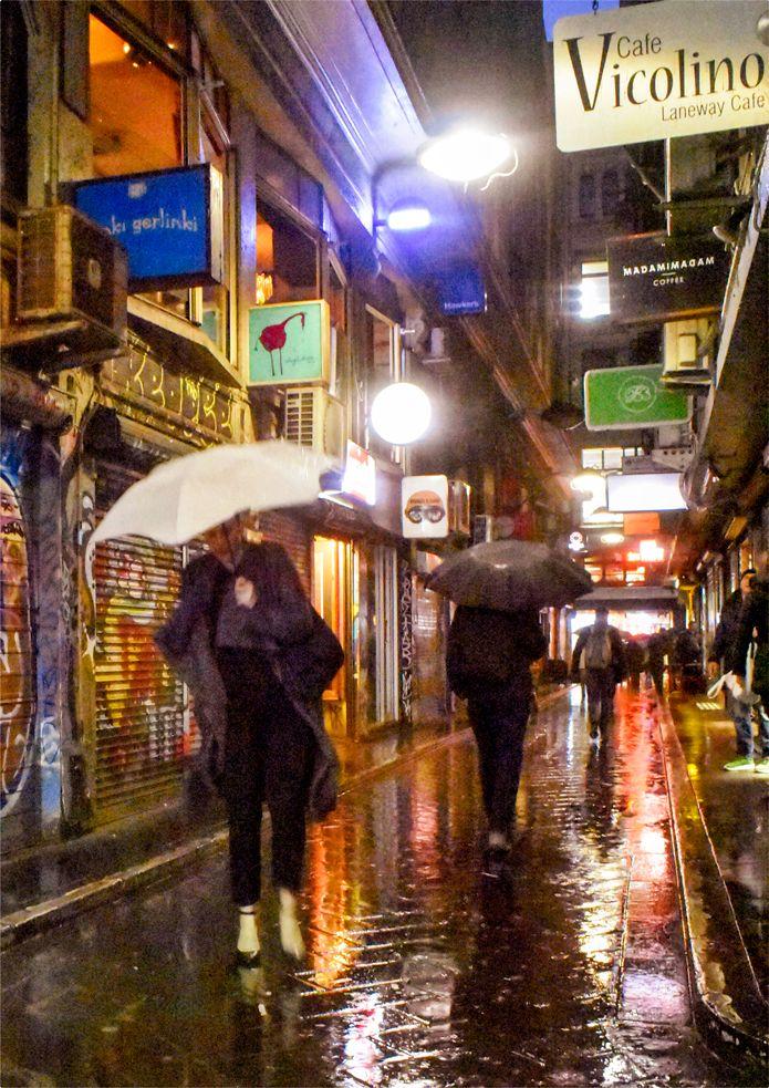 'Laneway Umbrellas'. Centre Place, Melbourne. © G.C. Campbell.