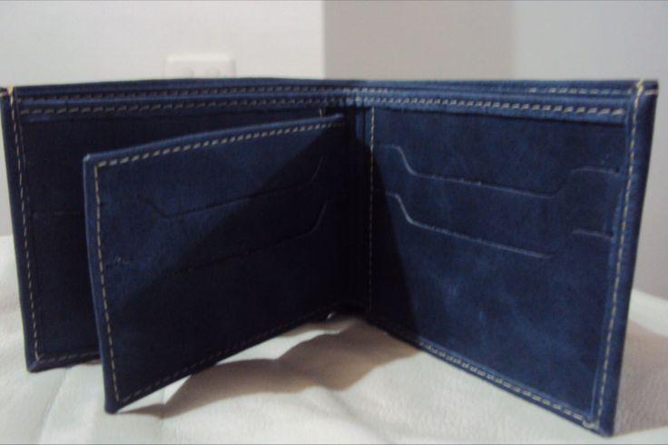 Interior Billetera de Hombre - Cuero imitación jean