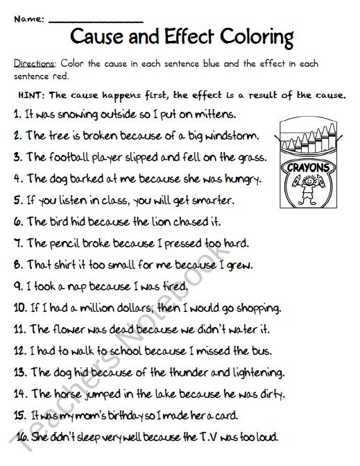 Worksheets Cause And Effect Worksheets For Middle School 1000 ideas about cause and effect on pinterest anchor charts coloring change to highlighting for middle school