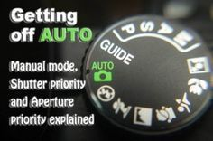 Some of the clearest instructions I've seen.  Macro image of a digital camera's controls set on auto. http://digital-photography-school.com/getting-off-auto-manual-aperture-and-shutter-priority-modes-explained?utm_content=buffer49b34&utm_medium=social&utm_source=pinterest.com&utm_campaign=buffer