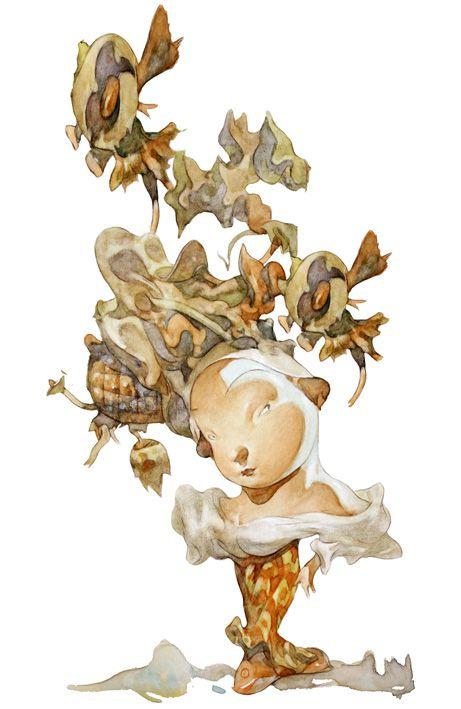 """Carlos Nine   illustration from """"L'Himalaya cahin-caha."""""""