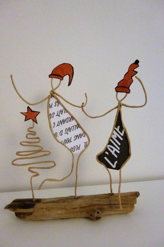 Les lutins - figurines en ficelle et papier