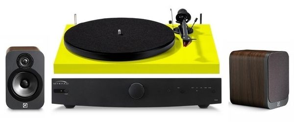 Pro-Ject, Myryad & Q Acoustics Turntable Stereo Package