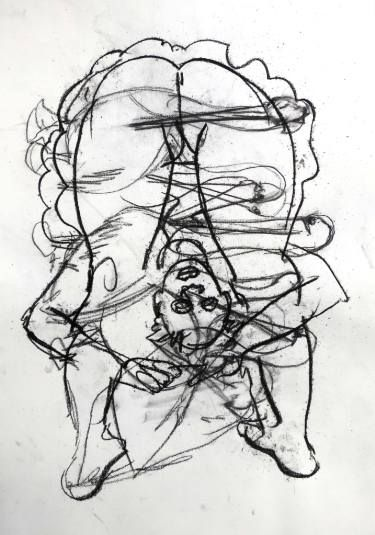"Saatchi Art Artist John Graham; Drawing, ""Nude"" #art"
