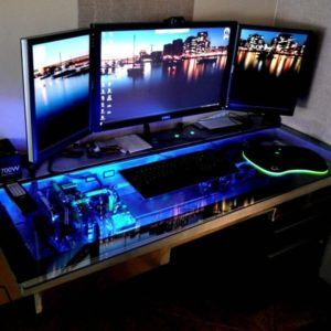 Best 25+ Cool computer desks ideas on Pinterest | Pc built into desk,  Gaming desk built in pc and Gaming computer setup