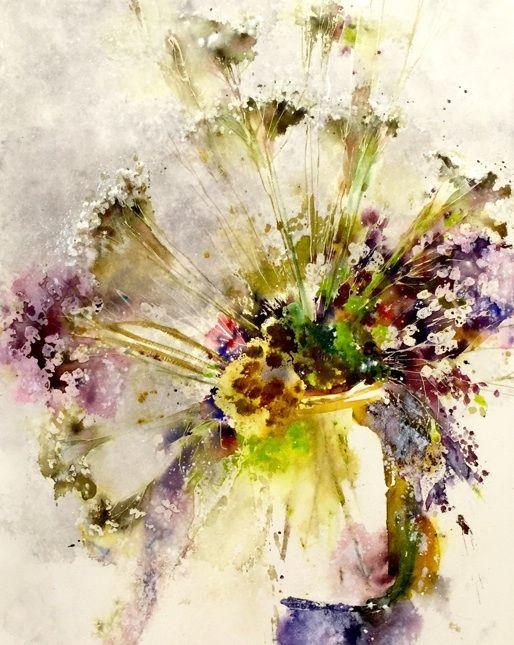 33 best Pamela Harnois images on Pinterest   Flower watercolor ...