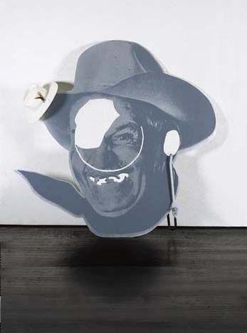 Cady Noland Chainsaw Cut Cowboy Head with Car Lock