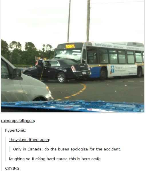 When this Canadian bus was the most Canadian bus.