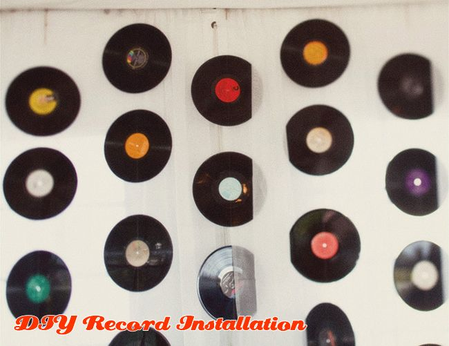 45 Record Hanging Backdrop For Dj 50 S Sock Hop Party