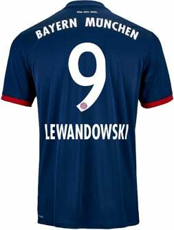 4218c8817 2017 18 adidas FC Bayern Robert Lewandowski Away Jersey. Buy it from  SoccerPro