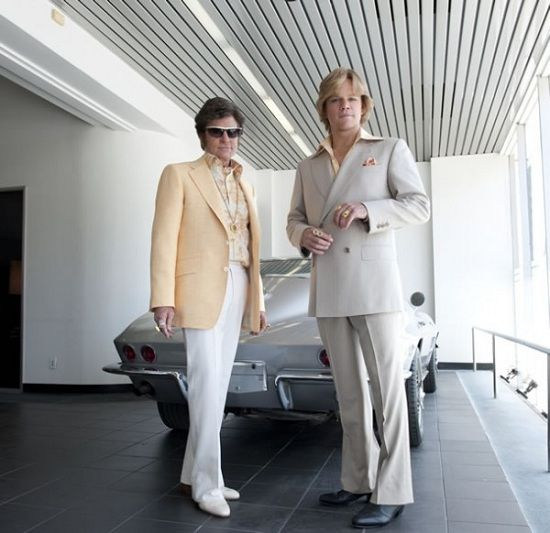 Behind the Candelabra, the Liberace movie HBO has been making with Michael Douglas and Matt Damon.