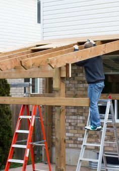 My. Daily. Randomness.: HDBlogSquad // How to Build a Covered Patio