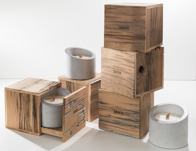 Concrete Candles - www.insekdesign.com