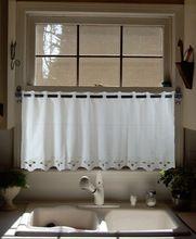 Saia de algodão camada cortinas, Porta janela cortinas para cozinha café, Decorativa tratamentos de janela 52 * 28(China (Mainland))