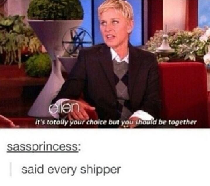 ellen speaks our language!! This is me when it comes to Troyler and Phan!