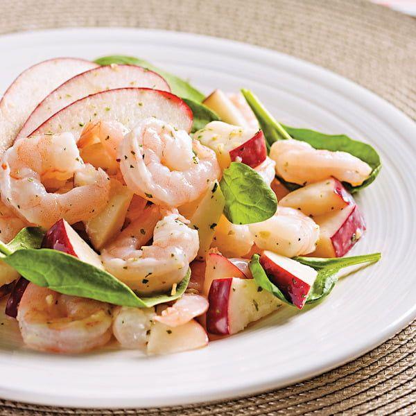 Recette Salade Aux Pommes Et Crevettes Recipe Food Healty Food Chop Suey