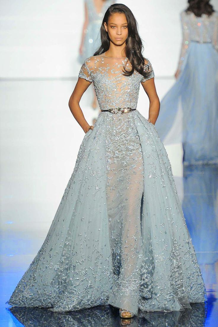 That was what the audience were treated to from Zuhair Murad's Spring Couture collection. Description from oliviapalermo.com. I searched for this on bing.com/images