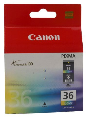 Canon CLI 36 Color - Ink tank - Canon has poured all the Know How of its extraordinary history of developing innovative office machines into each of its copiers, printers, and networked office systems. The same superiority of design and manufacture goes into all of the Canon-branded consumable imaging supplies and parts for... - http://ink-cartridges-ireland.com/canon-cli-36-color-ink-tank/ - 36, Canon, CLI, Color, Ink, Tank
