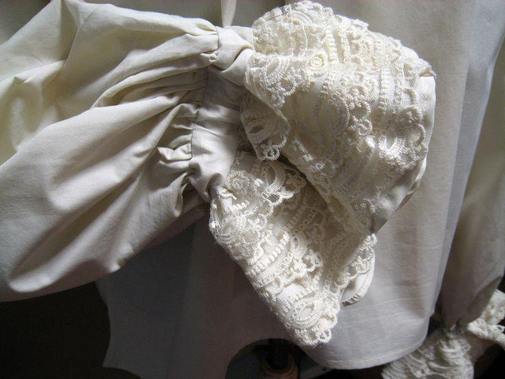 Camisa s. XVIII. Patrón fiel al original de la época. Detalle