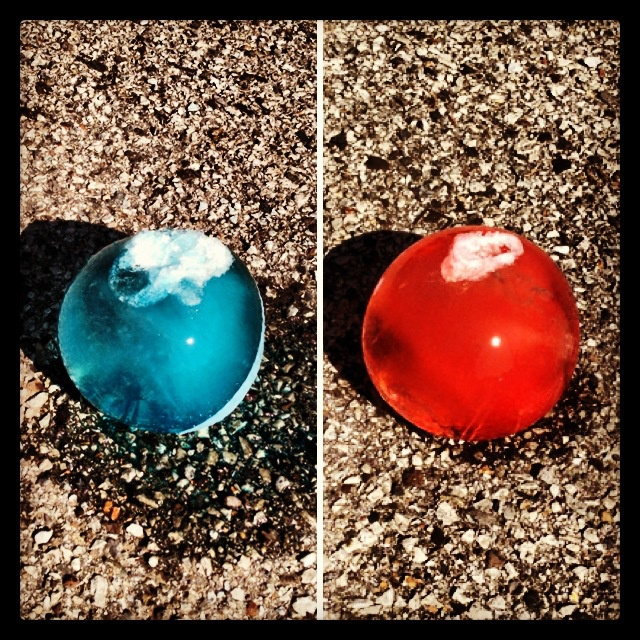 Expressing Feelings using Frozen Water Balloons