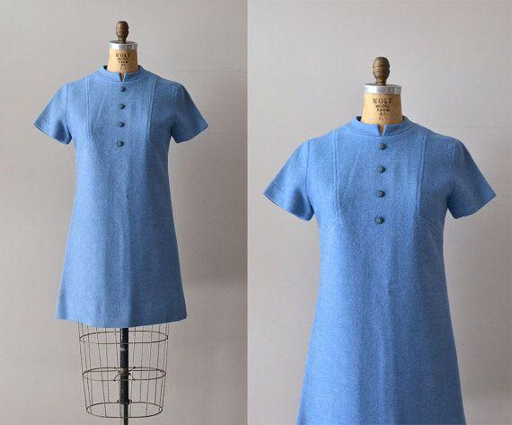 norwich dress wool 1960s shift dress vintage 60s by