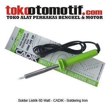 Kode : 20000000103 Nama : Soldering Iron Merk : Cadik Tipe : 540 60W 220~240V Status : Siap Berat Kirim : 1 kg