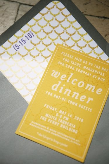 Welcome Dinner invite for out of town guests