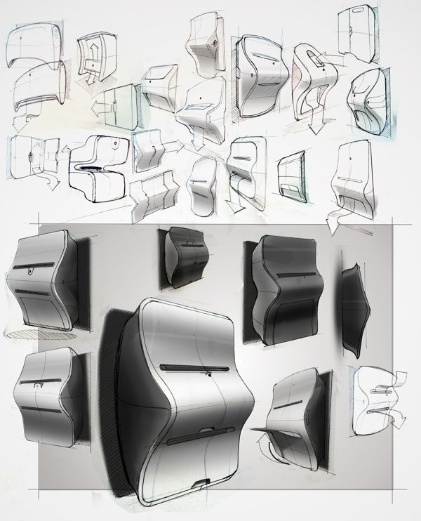 Design for 2050: Clothing Printer by Joshua Harris, via Behance.