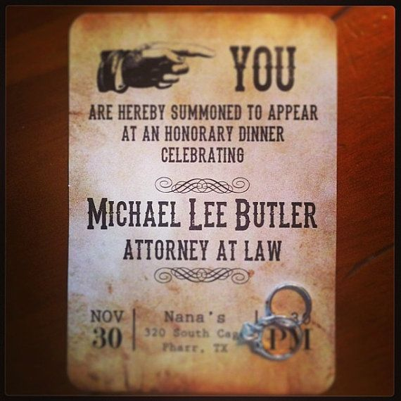 40 Best American Stationery Gifts Images On Pinterest: Official Summons For Lawyer Passed The Bar By