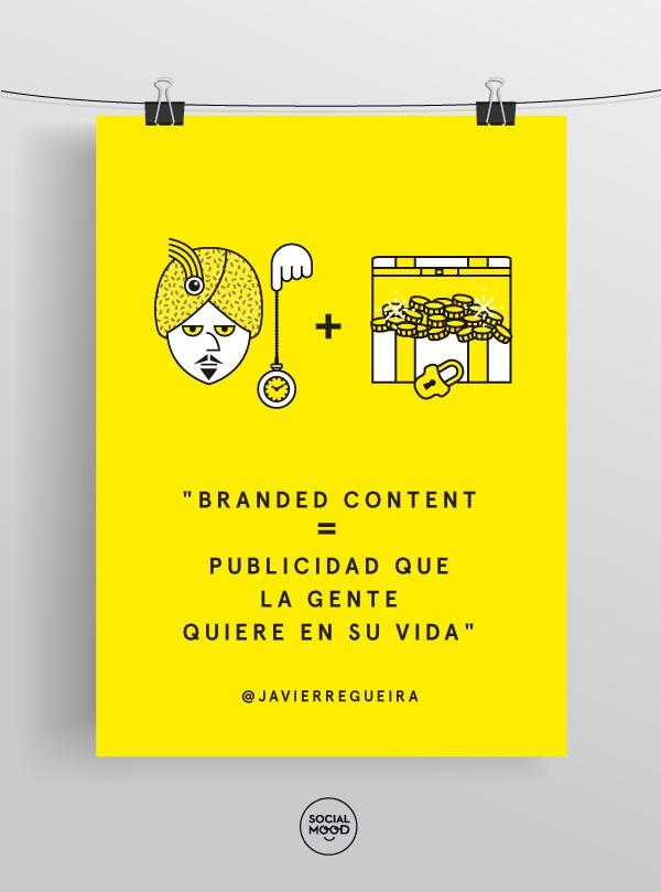 """""""Branded Content = publicidad que la gente quiere en su vida"""" @javierregueira en #contentmatters"""
