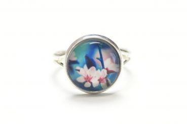 Just Trisha - Zarter Ring mit rosa Orchidee
